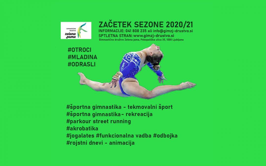 ZAČETEK VADB V SEZONI 2020/21