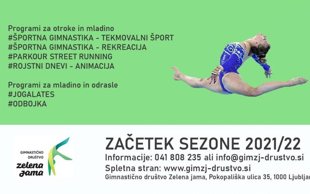 ZAČETEK VADB V SEZONI 2021/22
